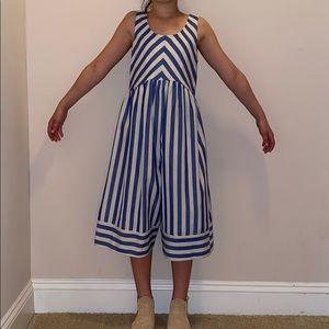 NWOT Bonnie Jean striped wide leg romper